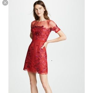 0a517f0b Marchesa Notte Embroidered tulle mini dress